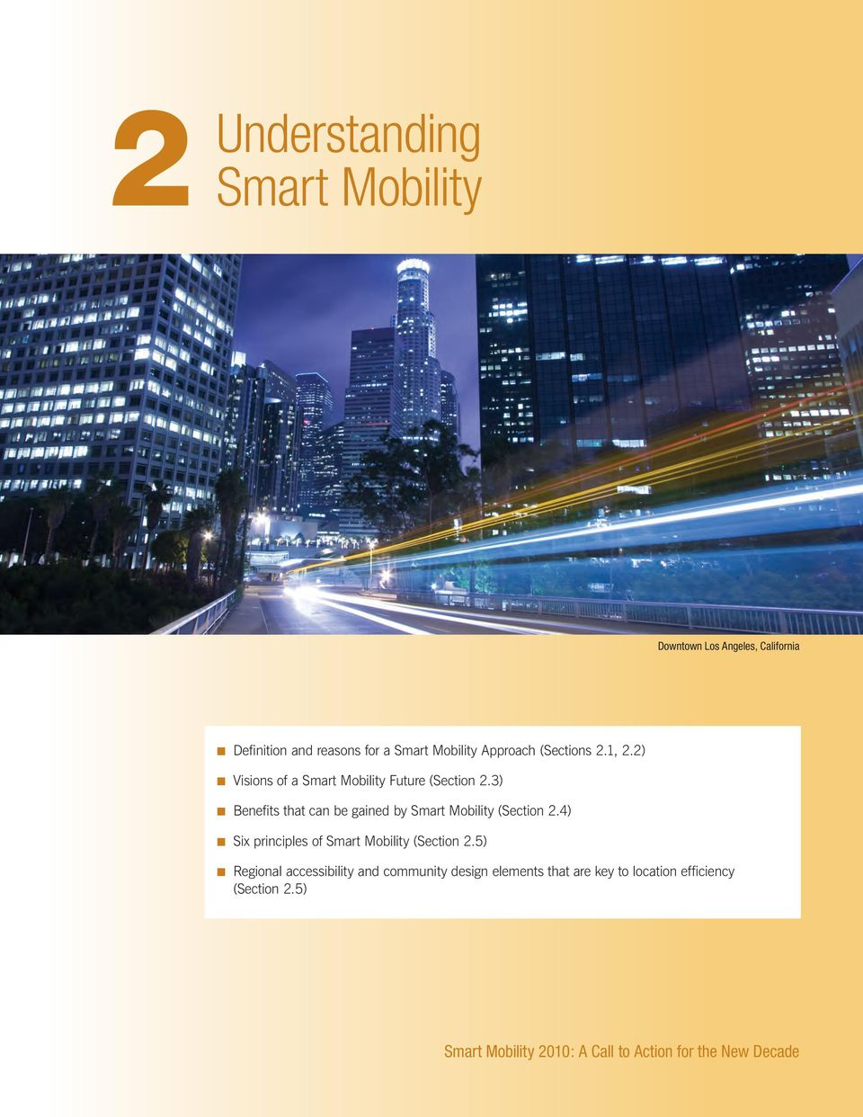 3) n Benefits that can be gained by Smart Mobility (Section 2.