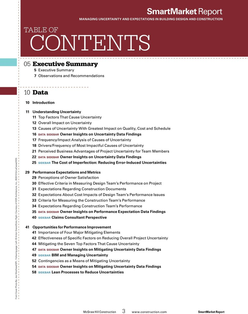, 2013 Ed LaCasse/HKS 11 Understanding Uncertainty 11 Top Factors That Cause Uncertainty 12 Overall Impact on Uncertainty 13 Causes of Uncertainty With Greatest Impact on Quality, Cost and Schedule