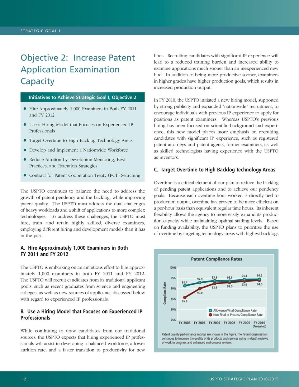 Best Practices, and Retention Strategies Contract for Patent Cooperation Treaty (PCT) Searching The USPTO continues to balance the need to address the growth of patent pendency and the backlog, while