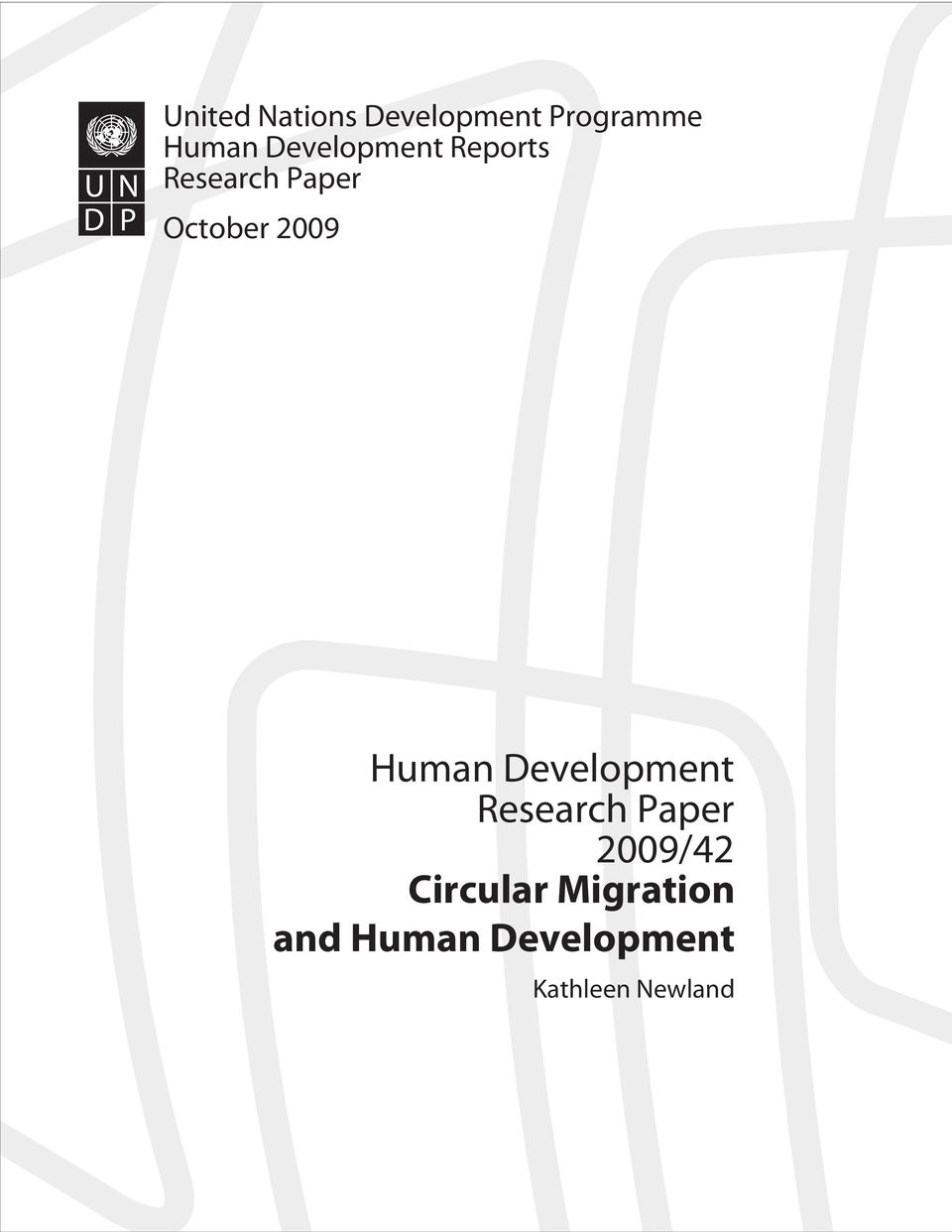 Human Development Research Paper 2009/42