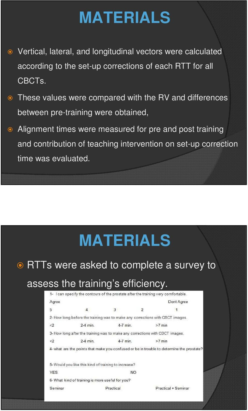 These values were compared with the RV and differences between pre-training were obtained, Alignment times were