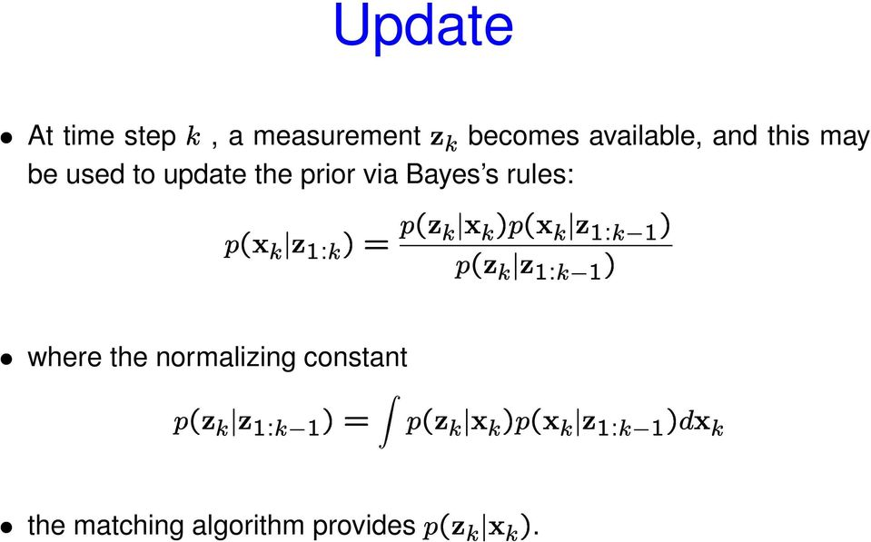the prior via Bayes s rules: where the