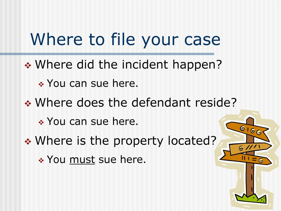 Where does the defendant reside?
