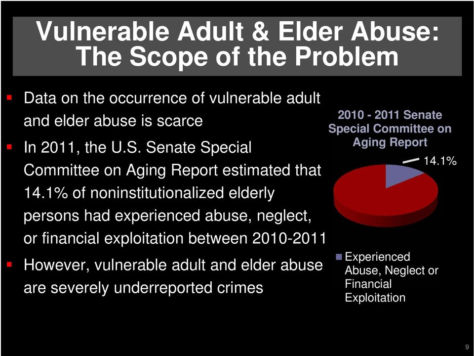 abuse of a vulnerable adult