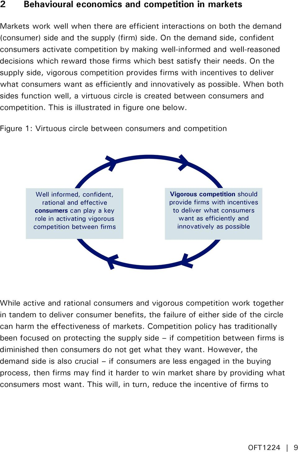 On the supply side, vigorous competition provides firms with incentives to deliver what consumers want as efficiently and innovatively as possible.