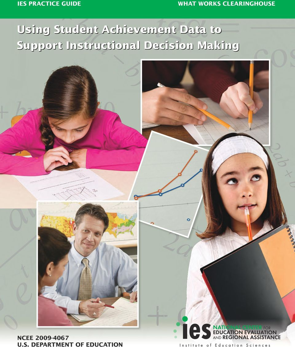 Data to Support Instructional Decision