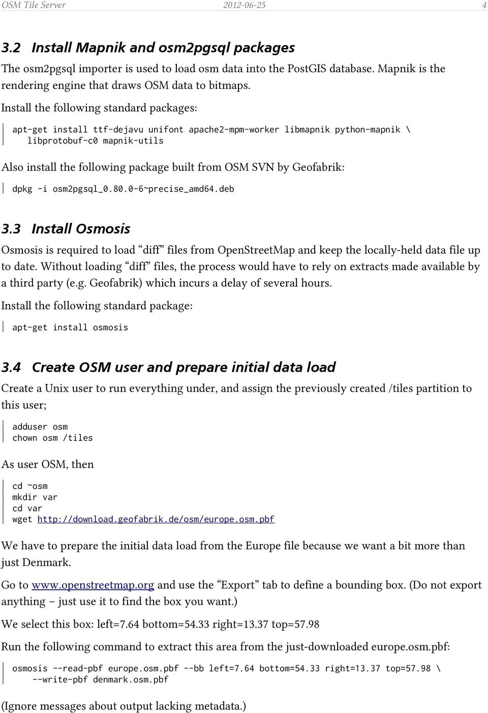 OSM Tile Server  1 Task Description & Background  Contents