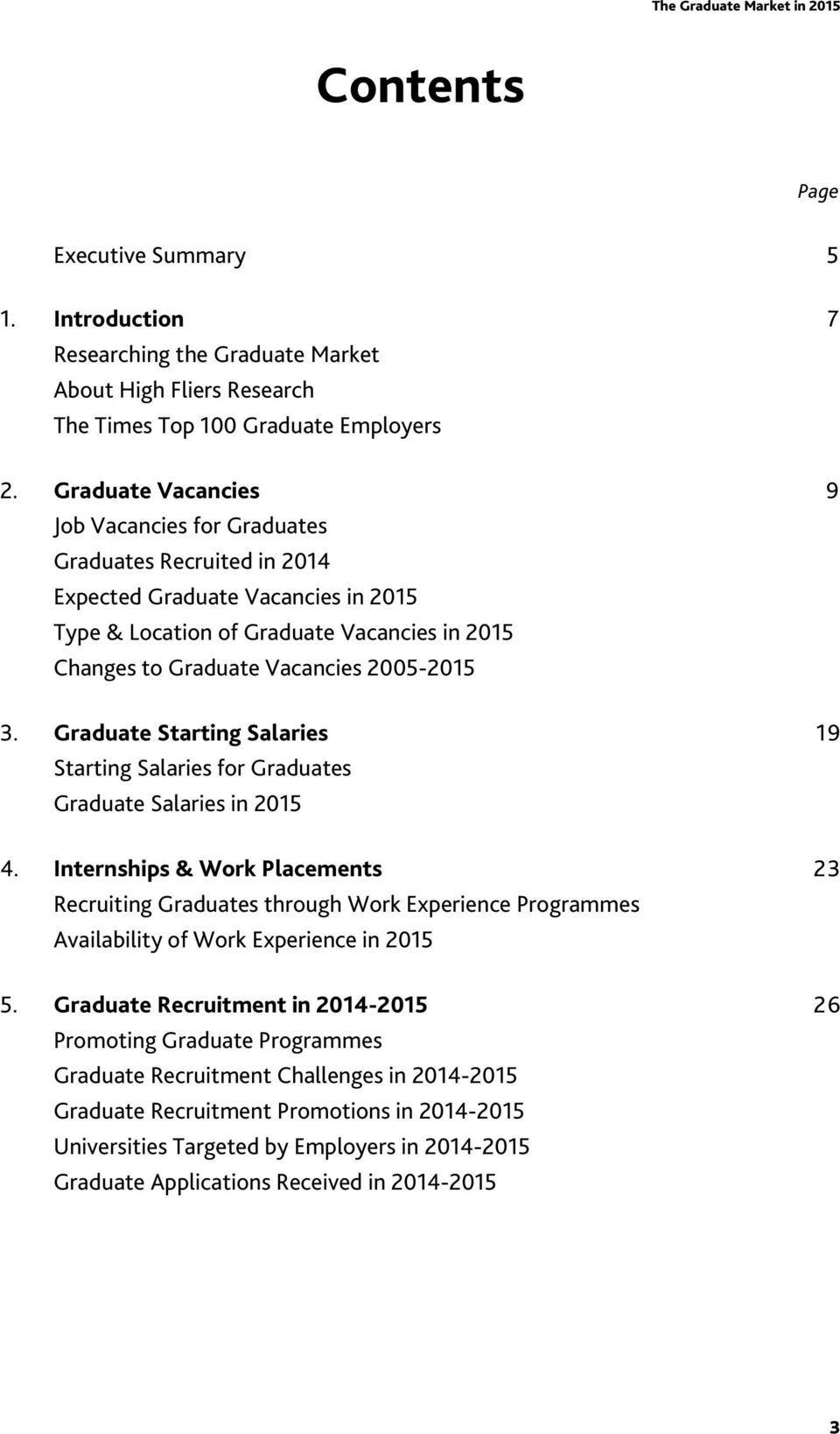 3. Graduate Starting Salaries 19 Starting Salaries for Graduates Graduate Salaries in 2015 4.