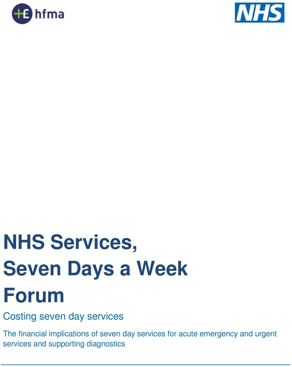 implications of seven day services for acute