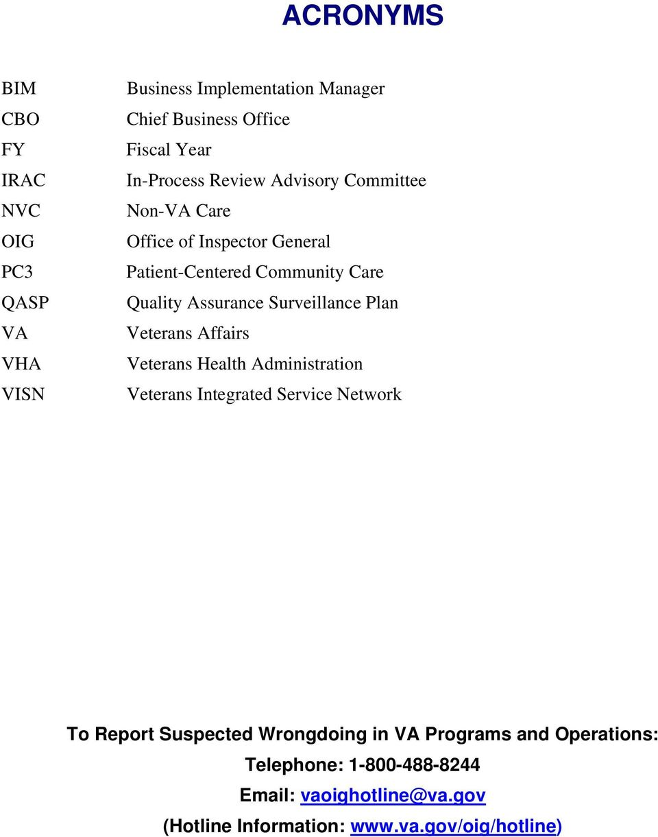 Surveillance Plan Veterans Affairs Veterans Health Administration Veterans Integrated Service Network To Report Suspected