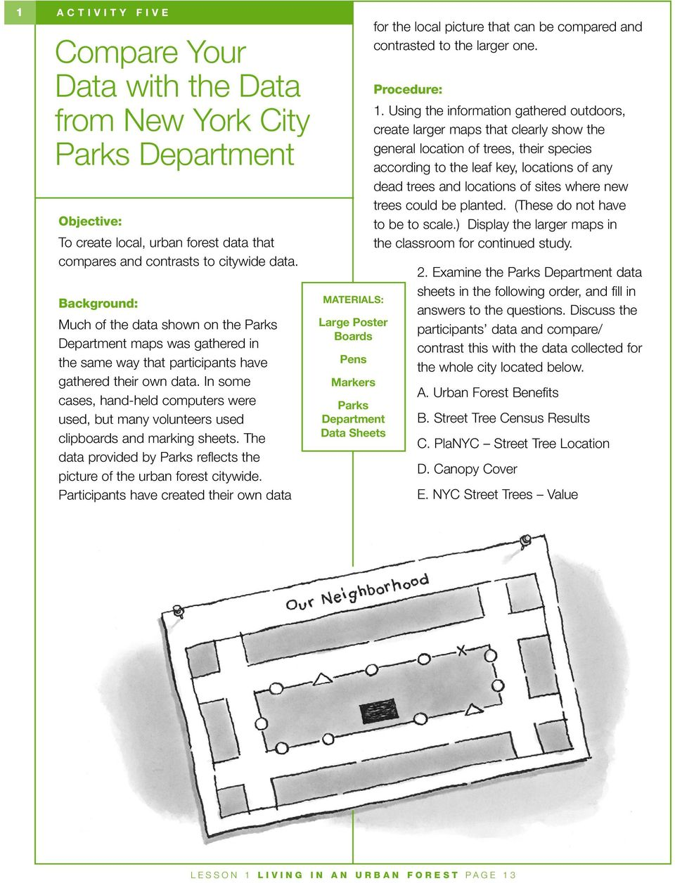 In some cases, hand-held computers were used, but many volunteers used clipboards and marking sheets. The data provided by Parks reflects the picture of the urban forest citywide.