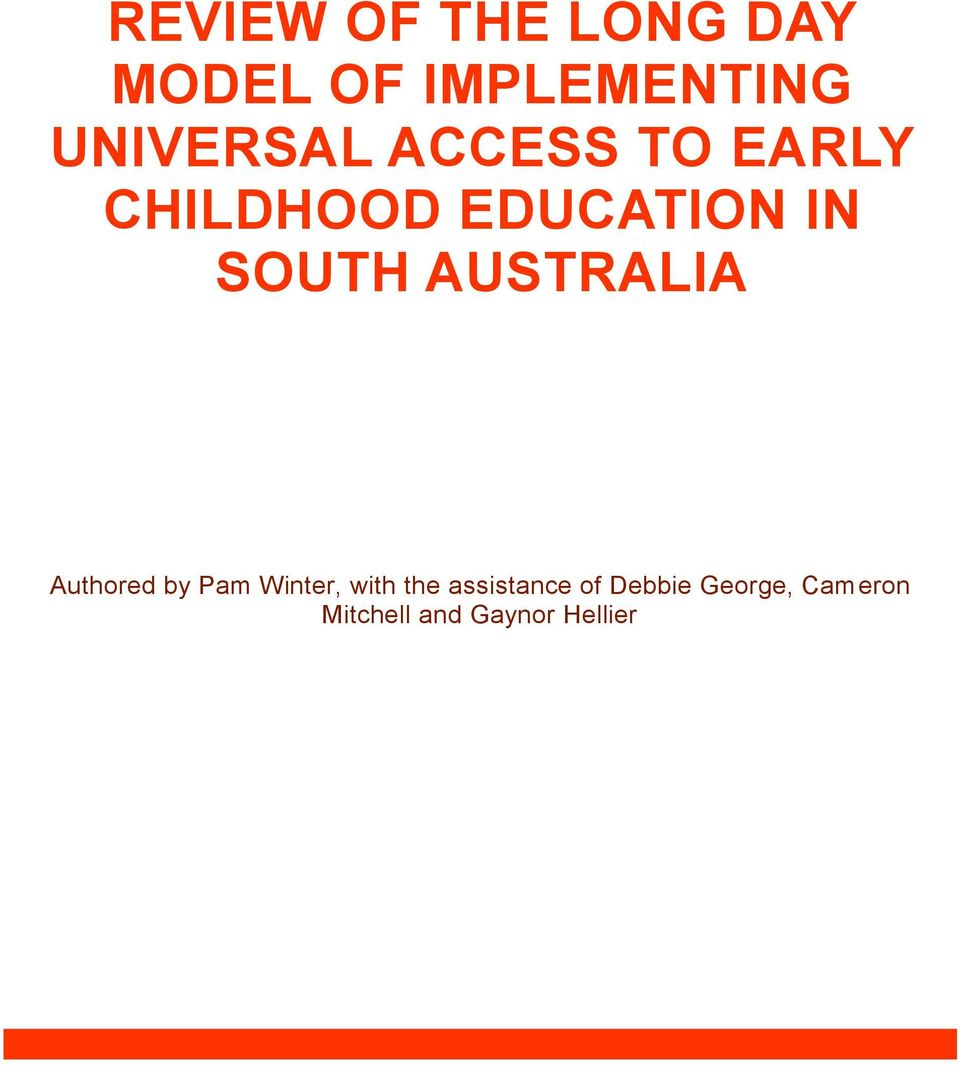 SOUTH AUSTRALIA Authored by Pam Winter, with the
