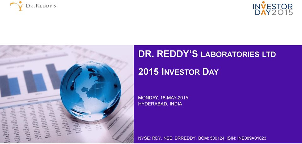 HYDERABAD, INDIA NYSE: RDY, NSE: