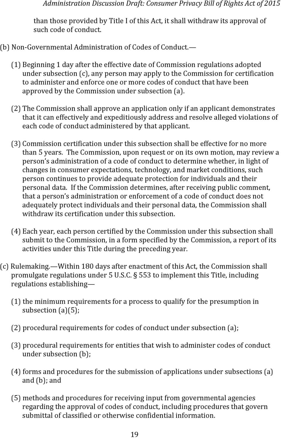 codes of conduct that have been approved by the Commission under subsection (a).