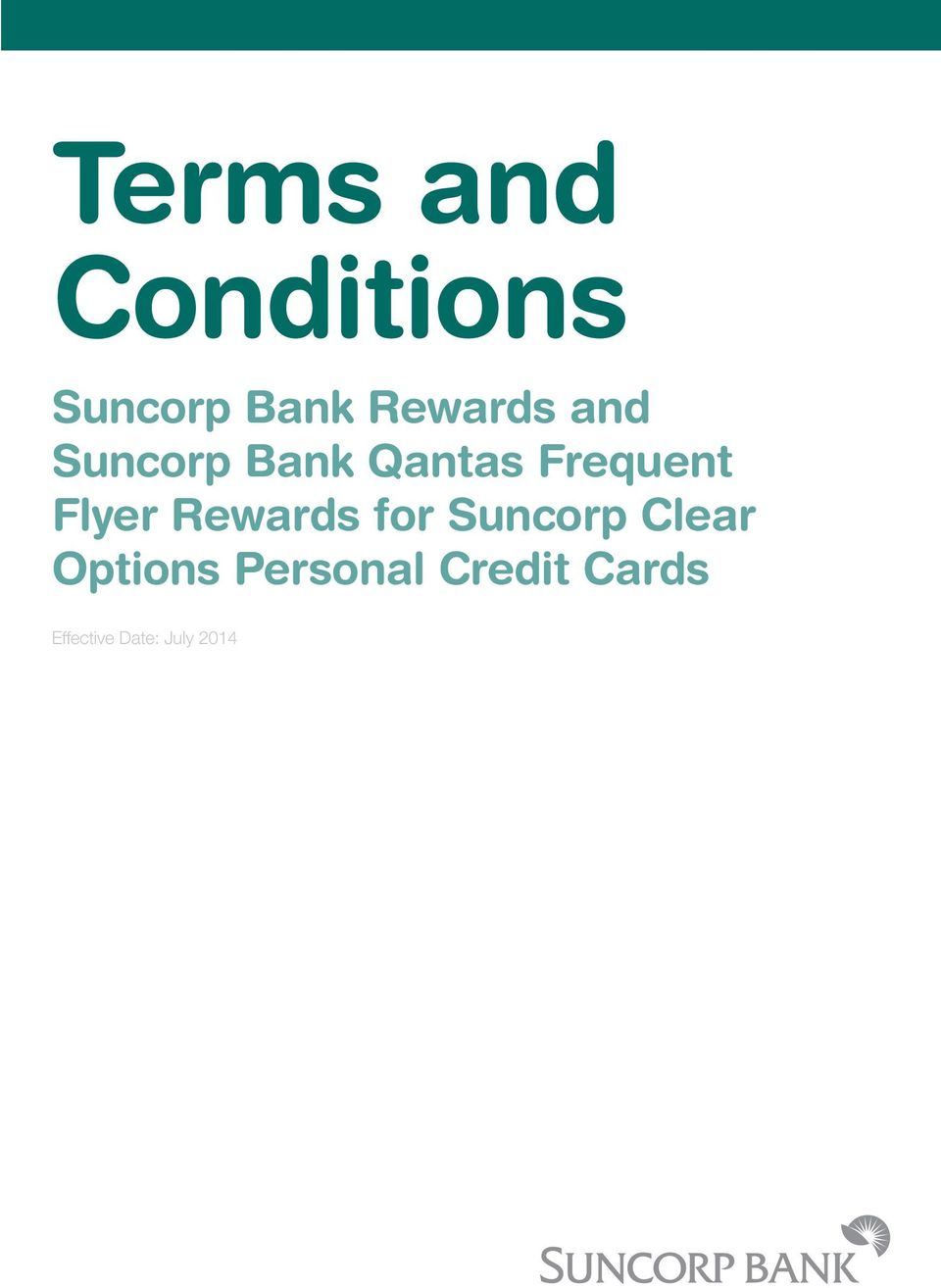 Flyer Rewards for Suncorp Clear Options