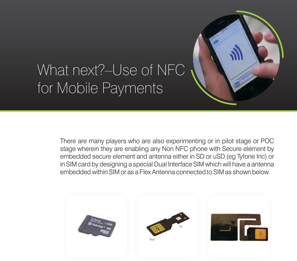 POC stage wherein they are enabling any Non NFC phone with Secure element by embedded secure element and