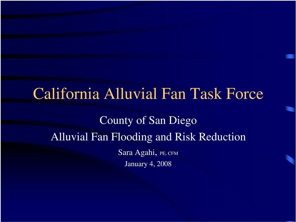 Alluvial Fan Flooding and Risk