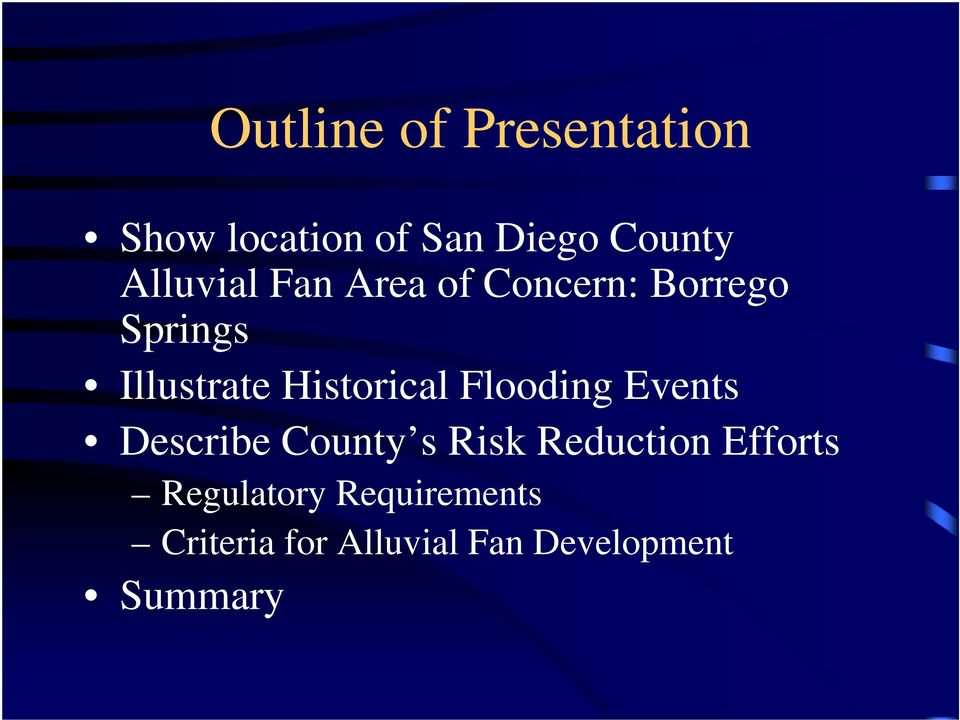 Historical Flooding Events Describe County s Risk Reduction