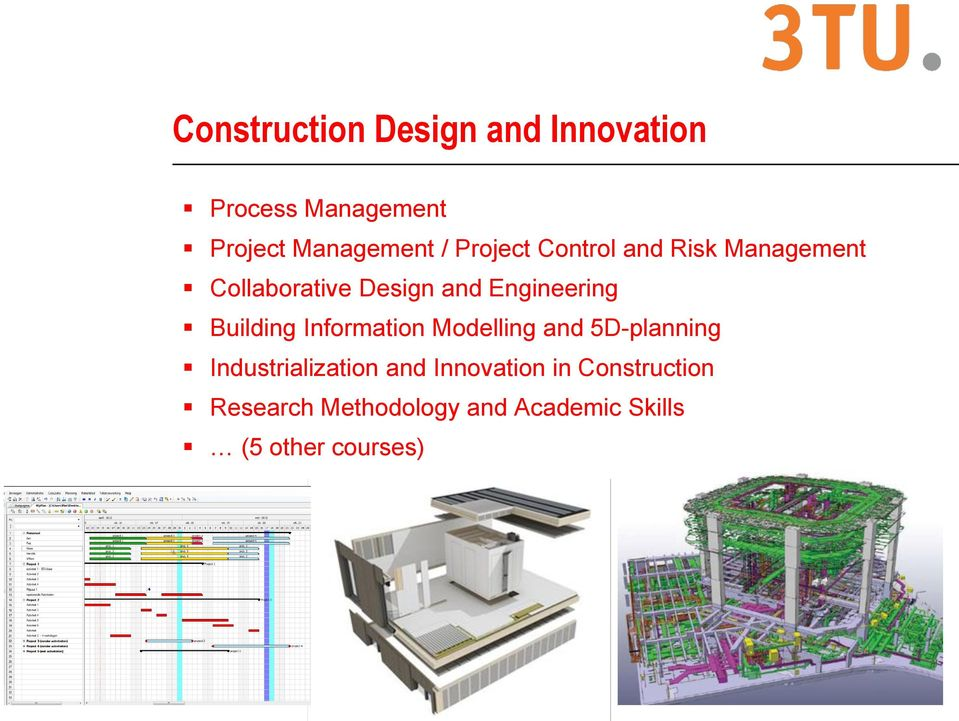 Building Information Modelling and 5D-planning Industrialization and