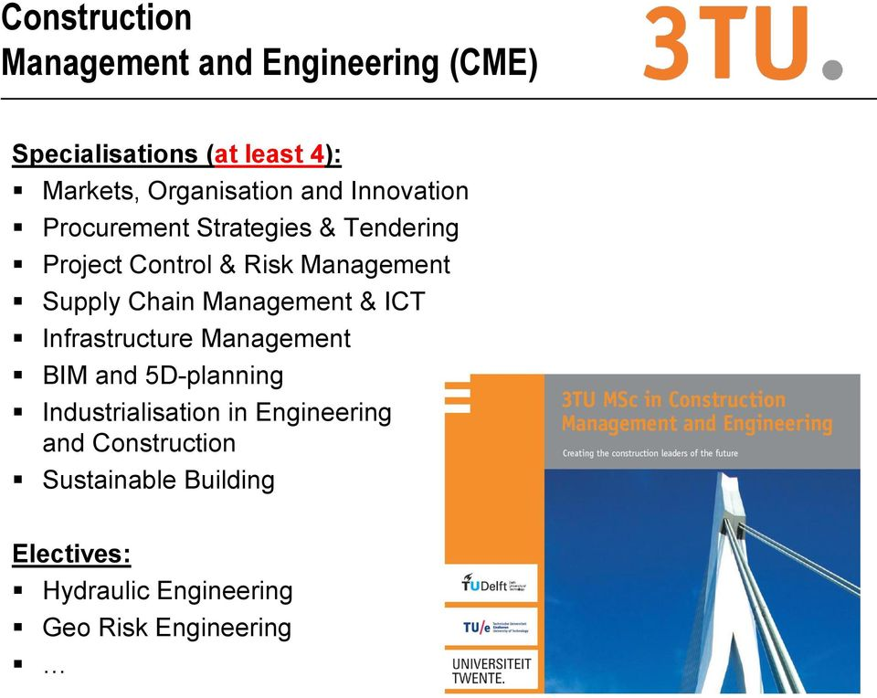 Management Supply Chain Management & ICT Infrastructure Management BIM and 5D-planning