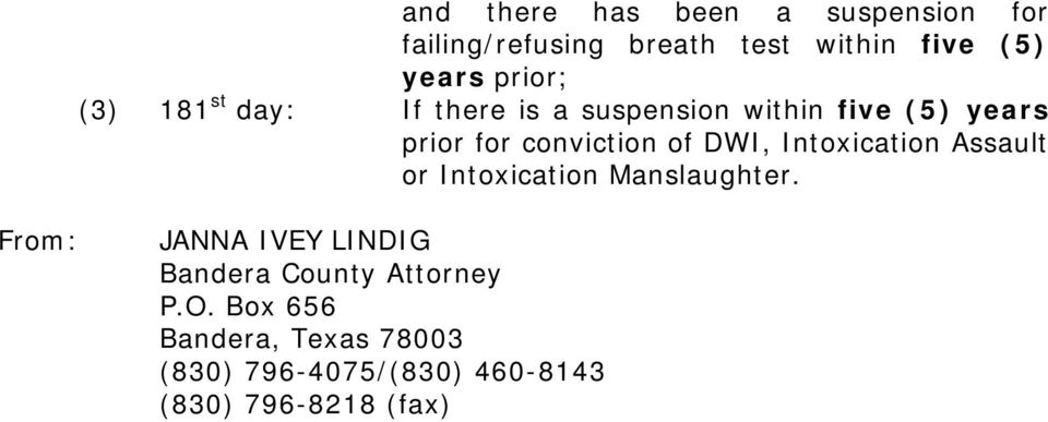 of DWI, Intoxication Assault or Intoxication Manslaughter.