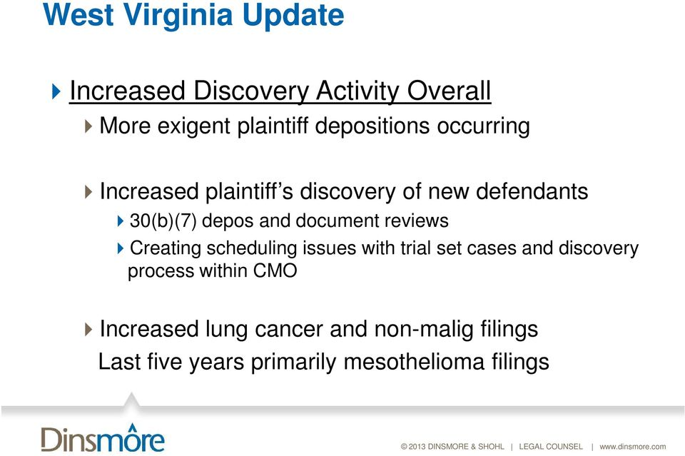 and document reviews Creating scheduling issues with trial set cases and discovery