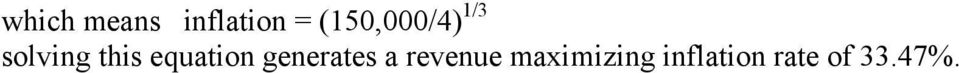 equation generates a revenue