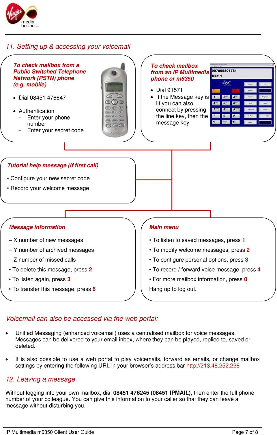 your voicemail To check mailbox from a Public Switched Telephone Network (PSTN) phone (e.g.