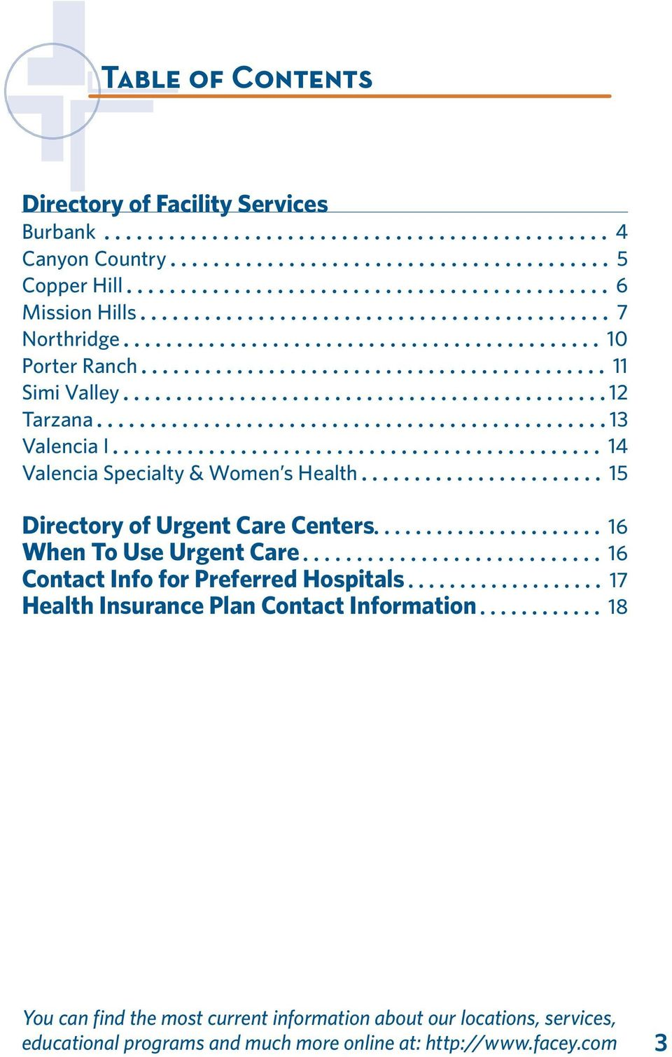 OUR LOCATIONS & SERVICES - PDF
