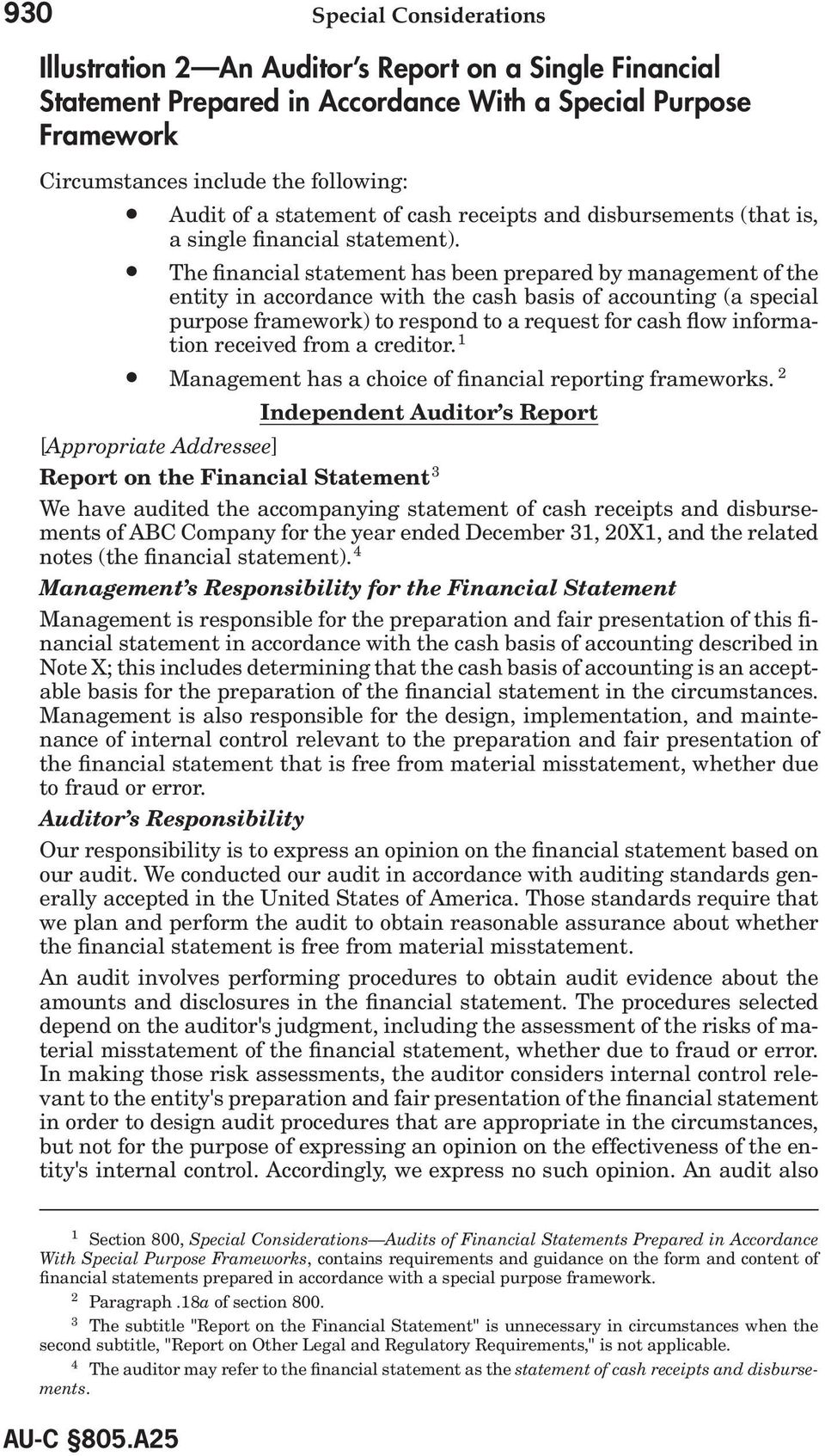 The financial statement has been prepared by management of the entity in accordance with the cash basis of accounting (a special purpose framework) to respond to a request for cash flow information
