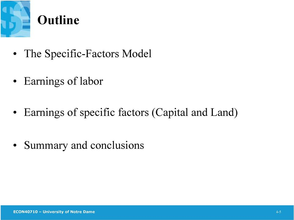 factors (Capital and Land) Summary and