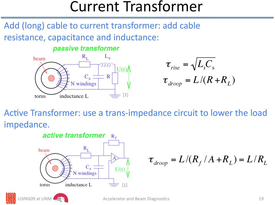 [1] Ac4ve Transformer: use a trans impedance circuit to lower the load impedance.