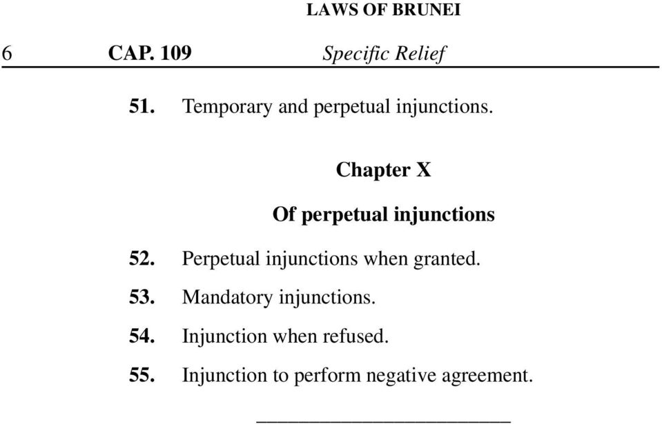 Chapter X Of perpetual injunctions 52.