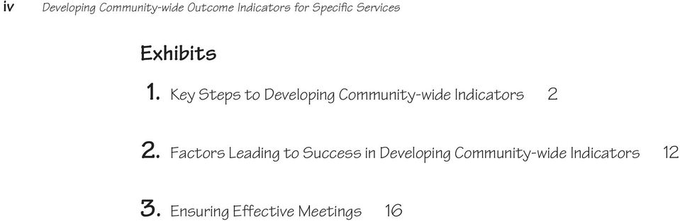 Key Steps to Developing Community-wide Indicators 2 2.