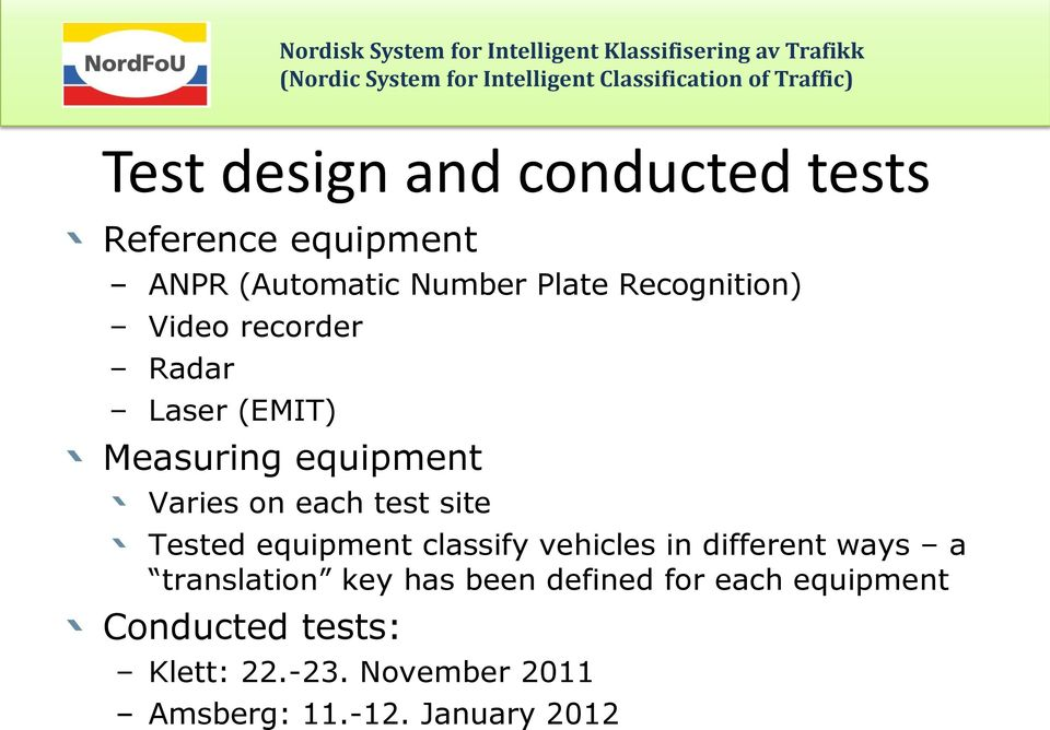 site Tested equipment classify vehicles in different ways a translation key has been