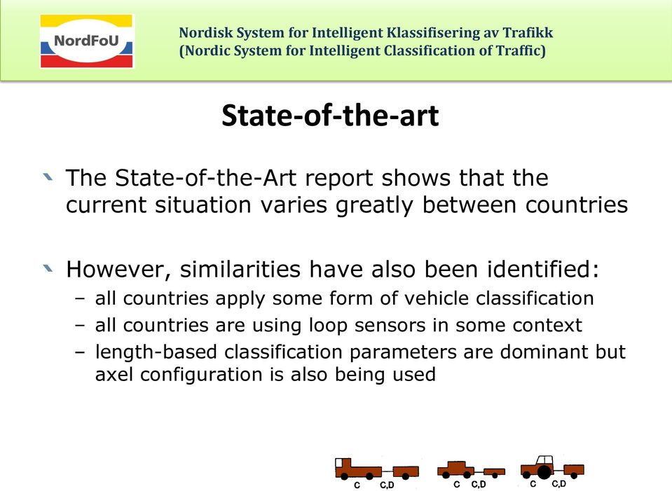 apply some form of vehicle classification all countries are using loop sensors in some