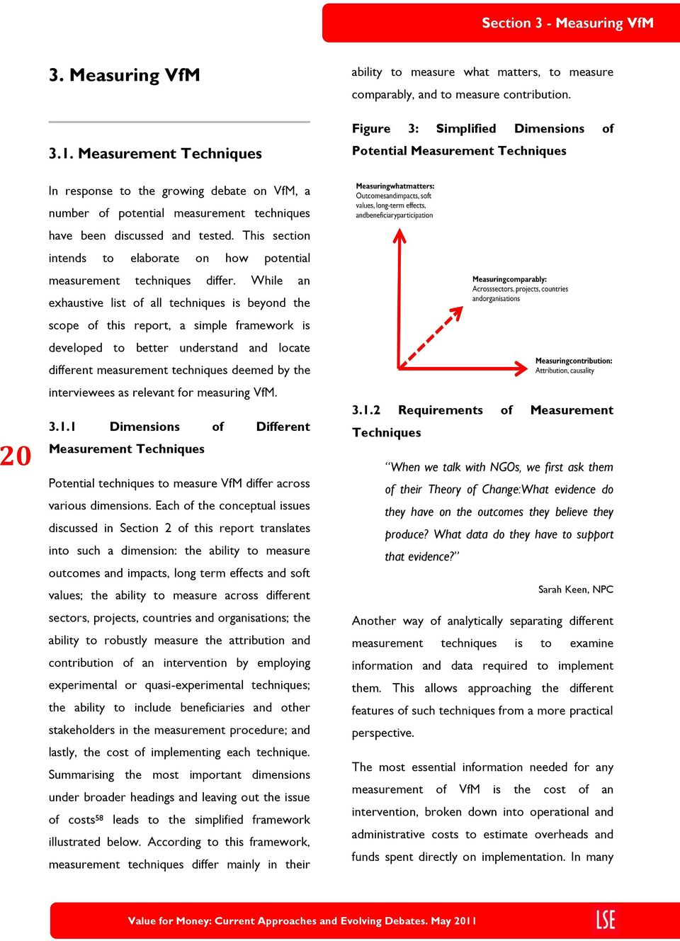 While an exhaustive list of all techniques is beyond the scope of this report, a simple framework is developed to better understand and locate different measurement techniques deemed by the