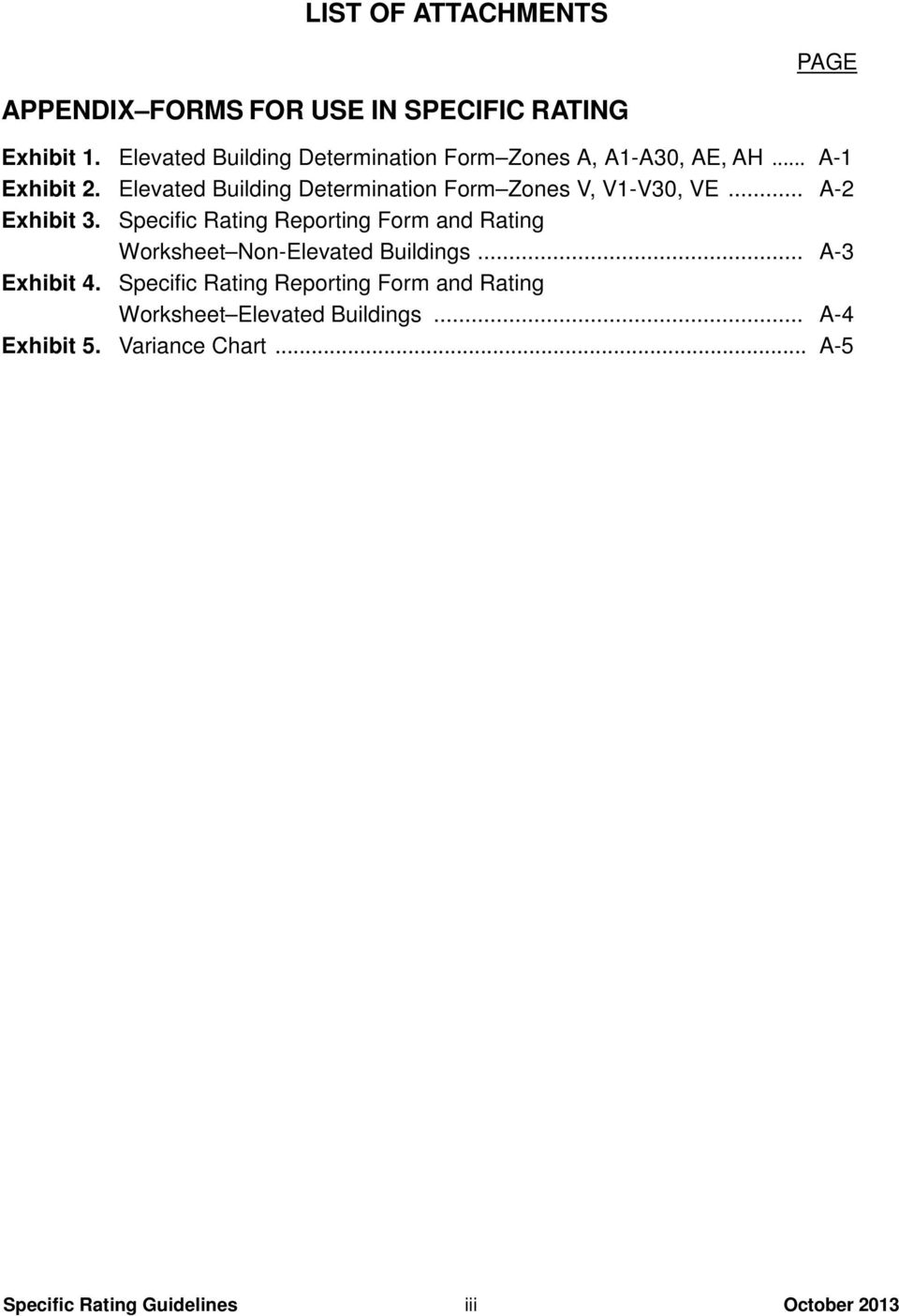 Elevated Building Determination Form Zones V, V1-V30, VE... A-2 Exhibit 3.