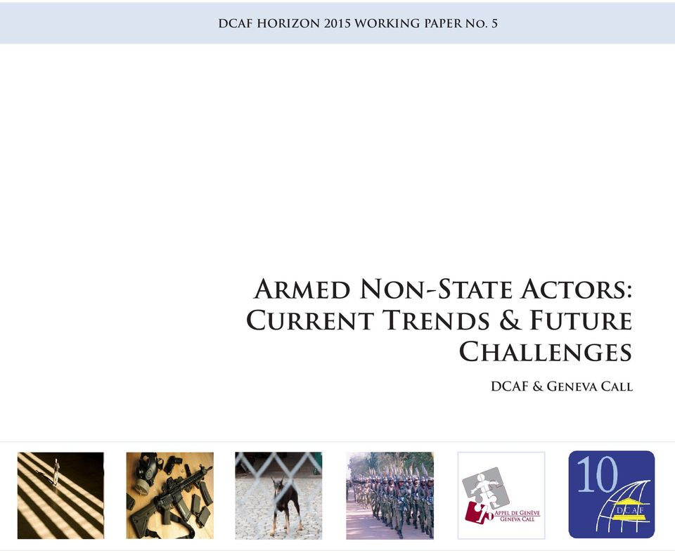 Trends & Future Challenges DCAF &