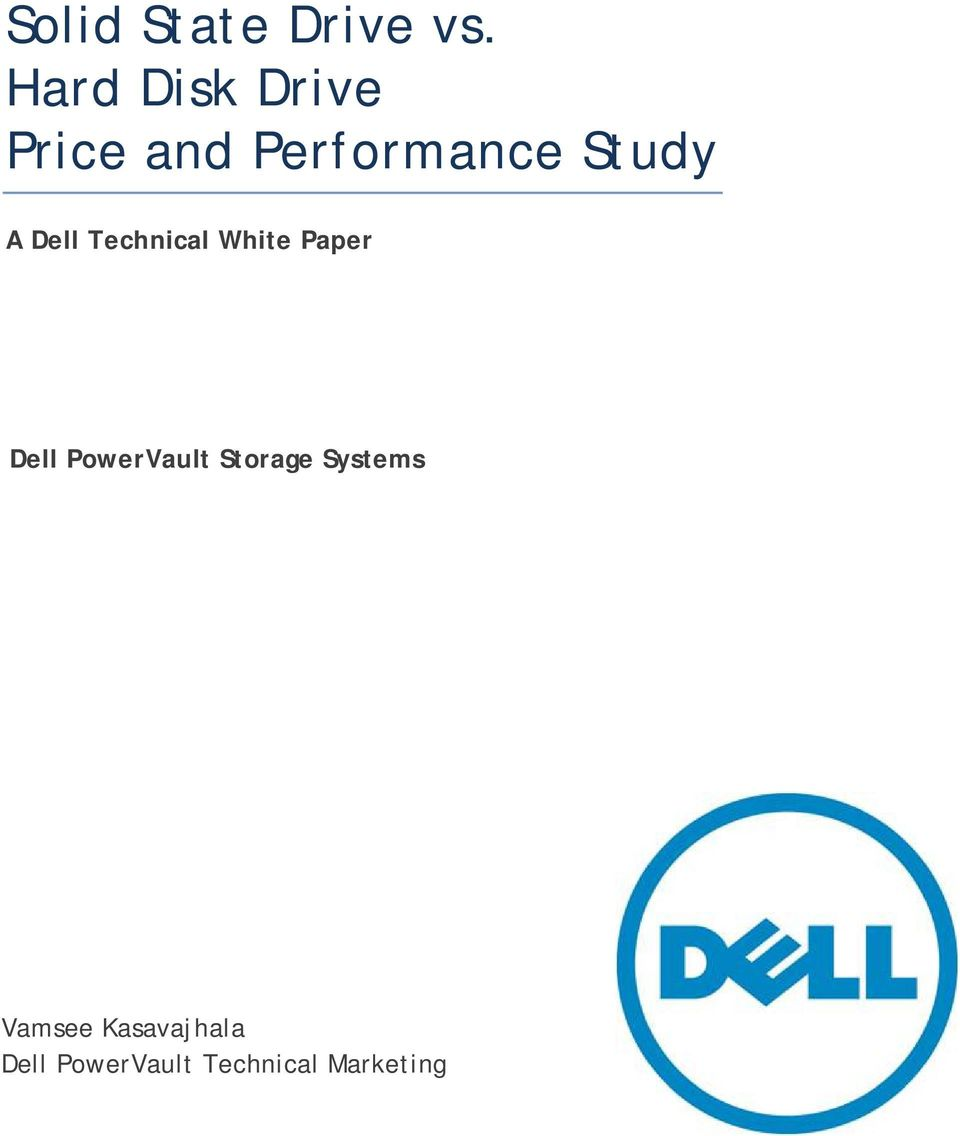 Dell Technical White Paper Dell PowerVault