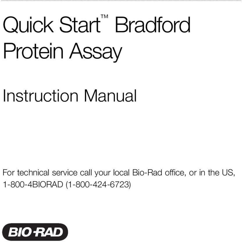 service call your local Bio-Rad