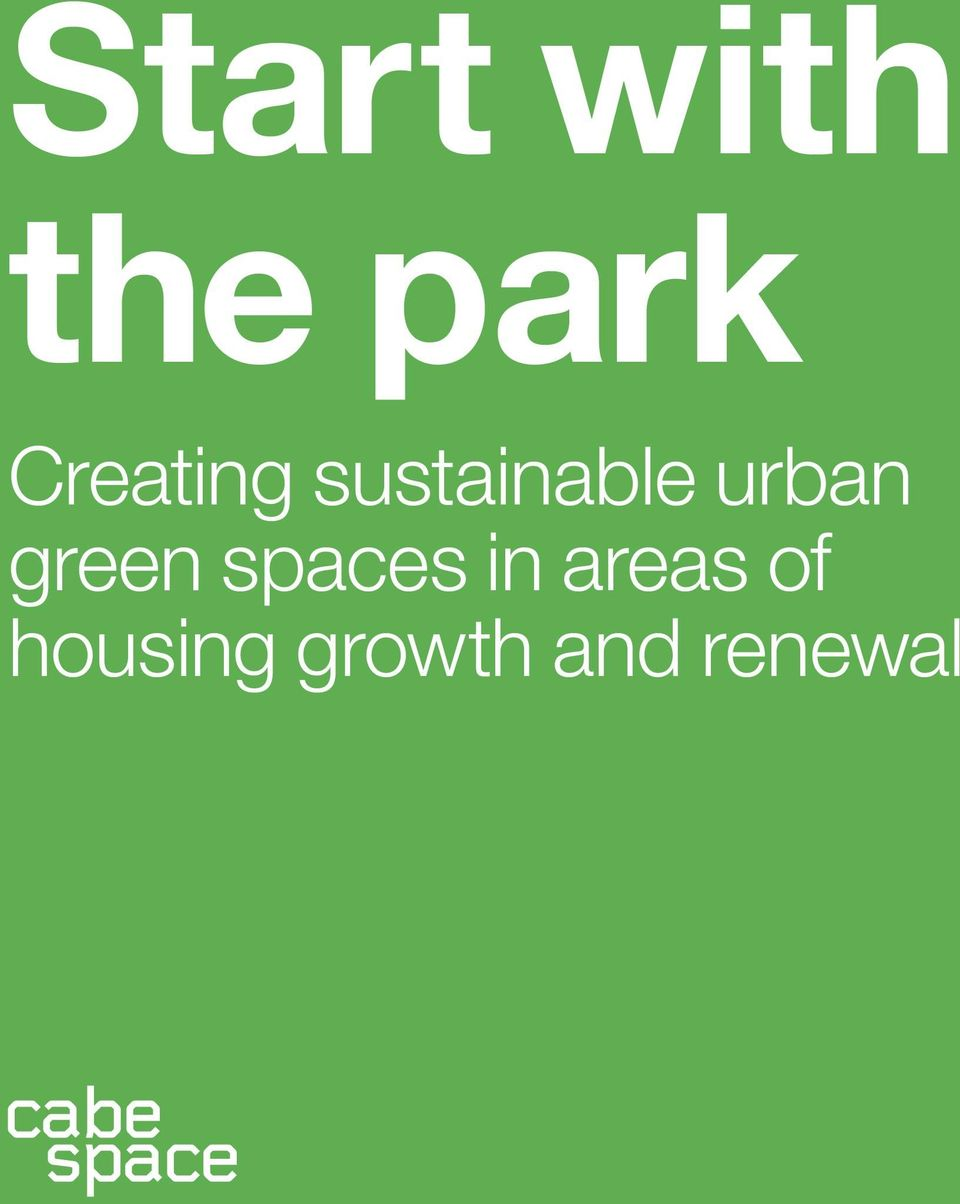 urban green spaces in