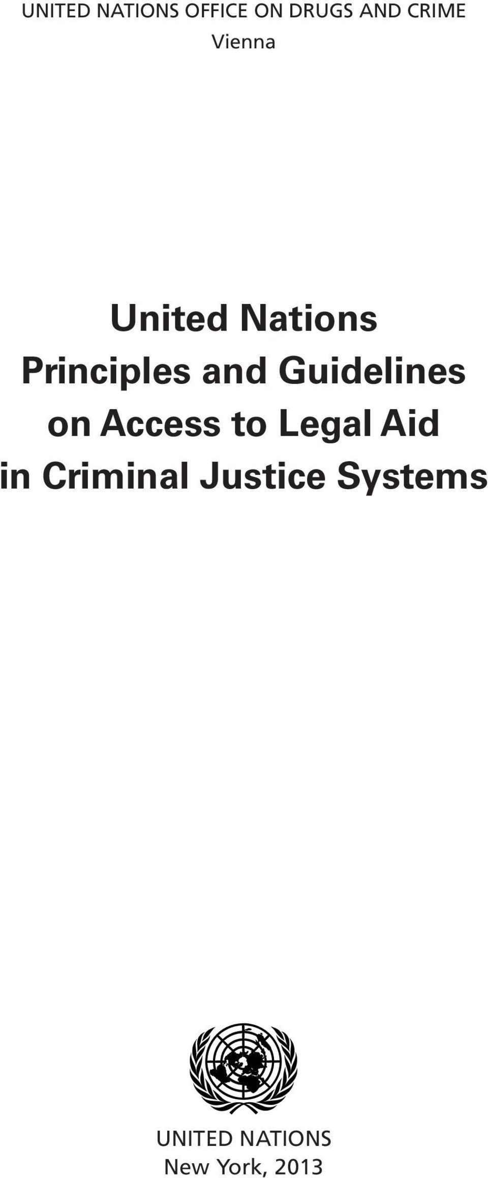 Guidelines on Access to Legal Aid in