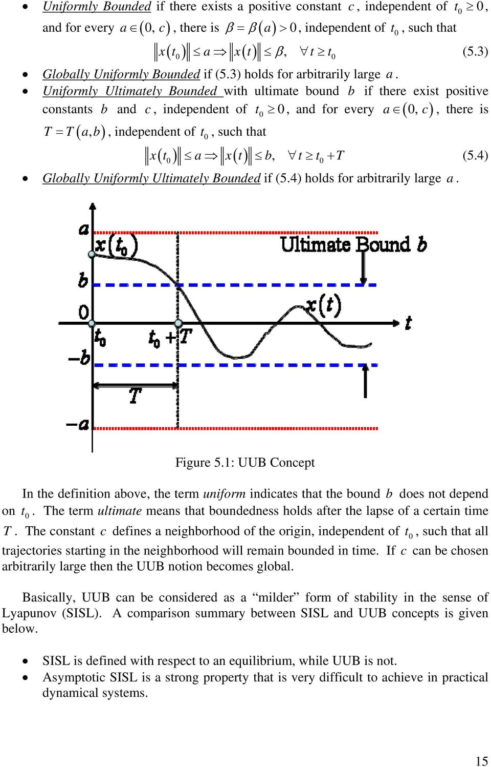 Uniformly Ultimately Bounded with ultimate bound b if there eist positive constants b and c, independent of 0 0 a 0, c, there is a, b, independent of t 0, such that 0 0 t, and for every t a t b, t t