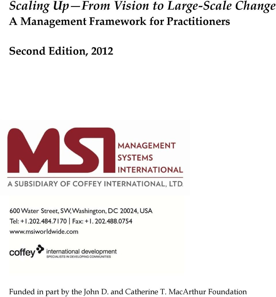 Practitioners Second Edition, 2012 Funded