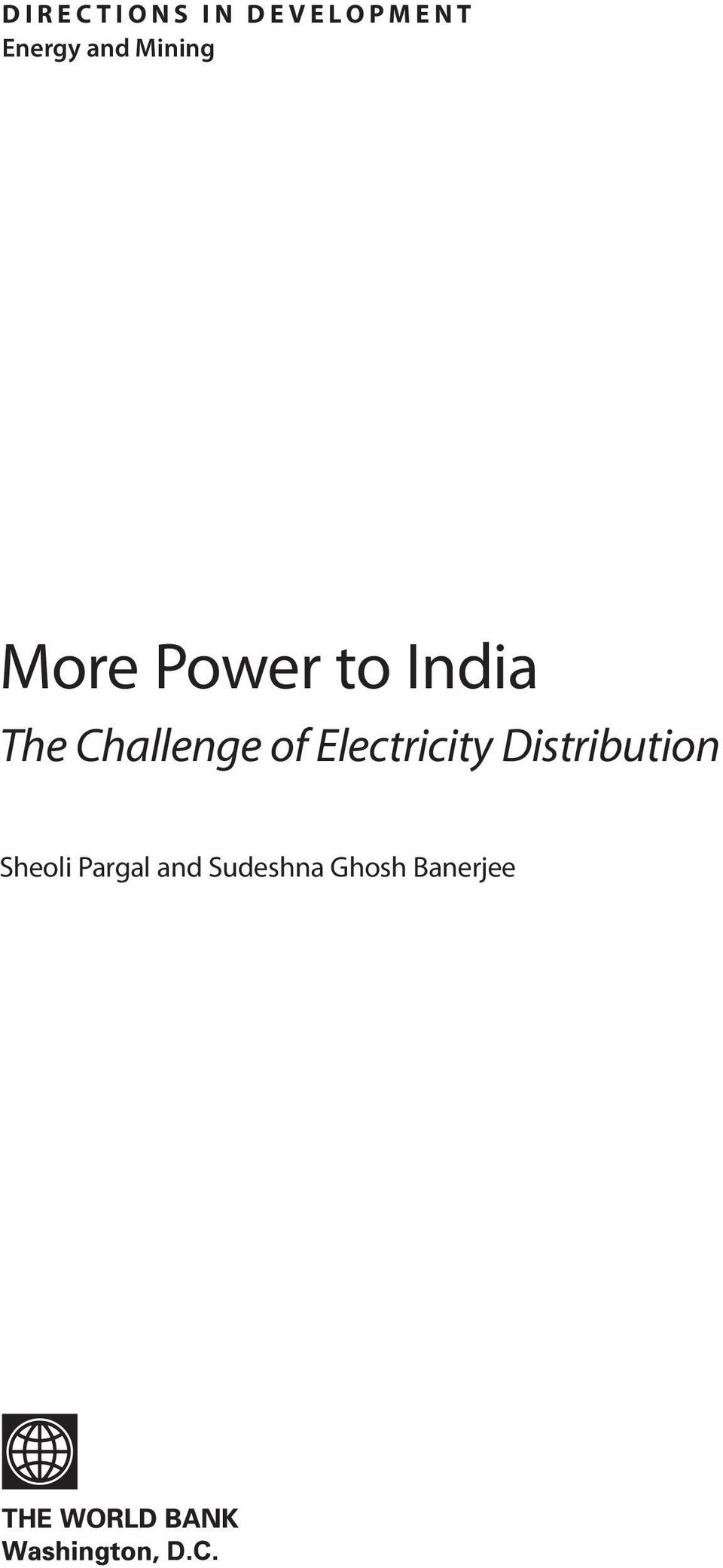 Challenge of Electricity