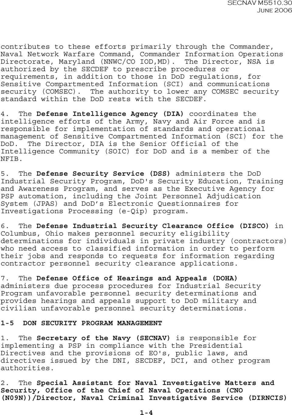 Department Of The Navy Personnel Security Program Pdf