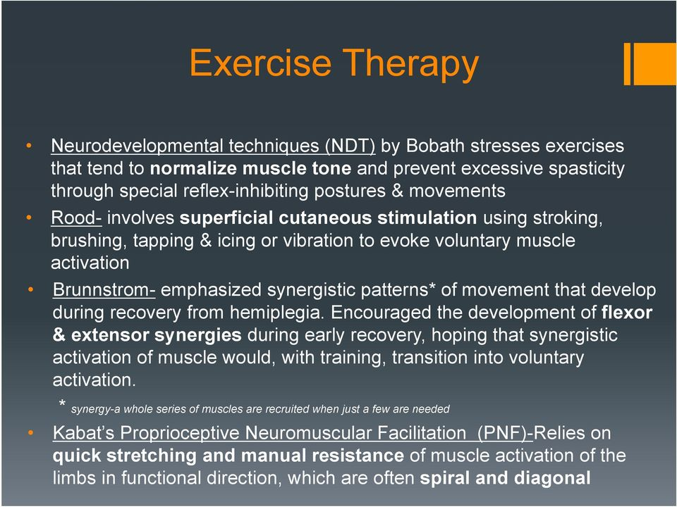 movement that develop during recovery from hemiplegia.