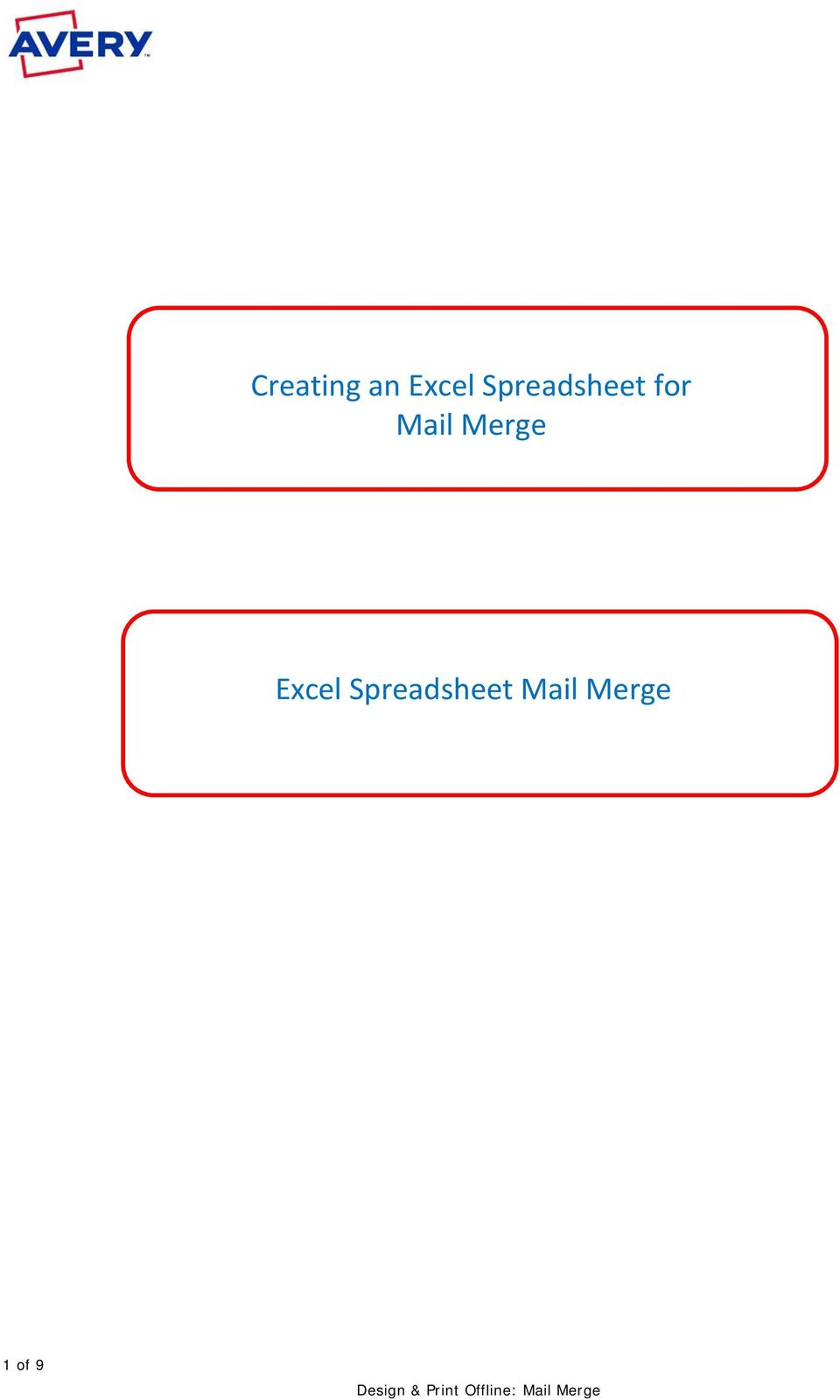 Mail Merge Excel