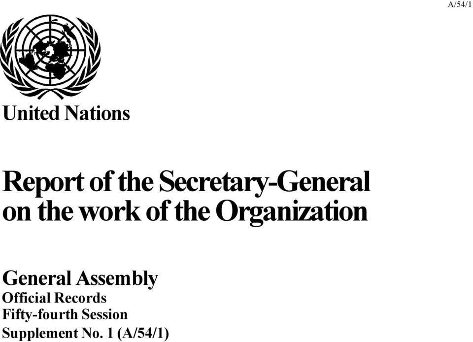 Organization General Assembly Official